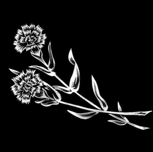 Цветок 11 - Гравировка цветка на памятнике, производство и доставка по РФ