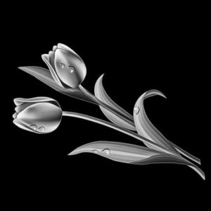 Цветок 17 - Гравировка цветка на памятнике, производство и доставка по РФ