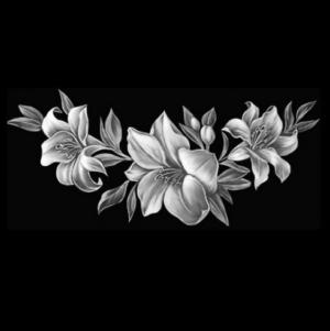 Цветок 20 - Гравировка цветка на памятнике, производство и доставка по РФ