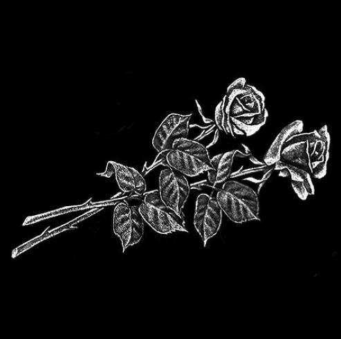Цветок 3 - Гравировка цветка на памятнике, производство и доставка по РФ