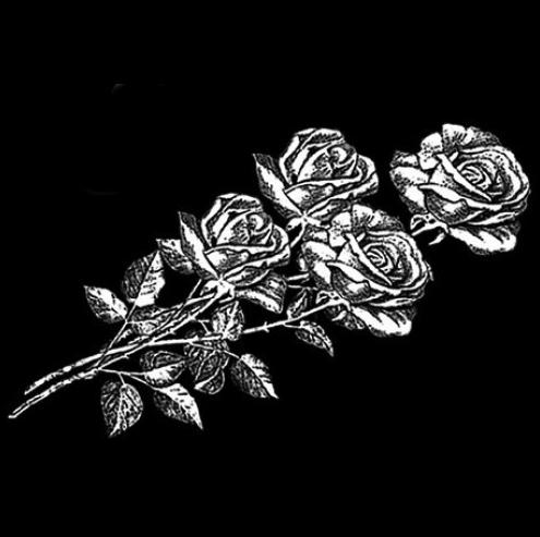 Цветок 5 - Гравировка цветка на памятнике, производство и доставка по РФ
