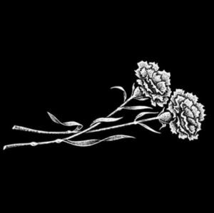 Цветок 9 - Гравировка цветка на памятнике, производство и доставка по РФ