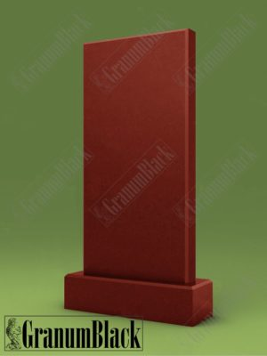 Памятник стандартный из малинового кварцита