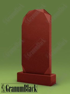 Памятник Алмаз из малинового кварцита