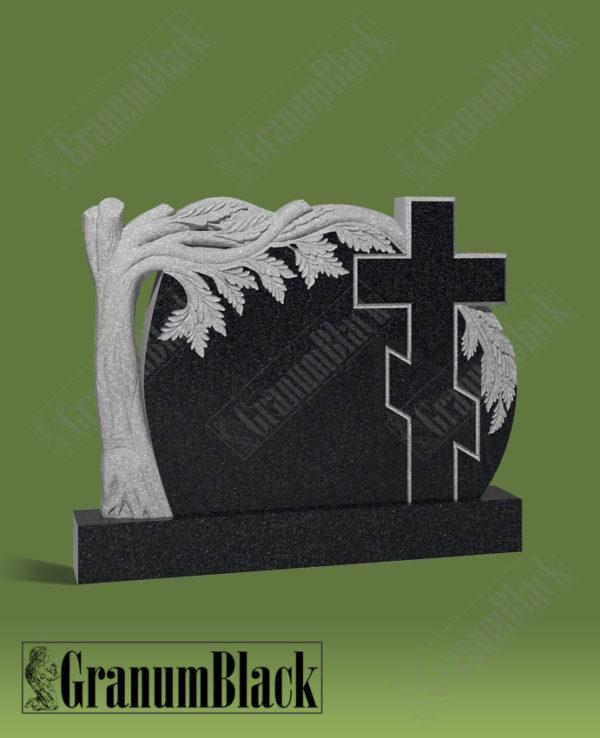 Памятник с деревом и крестом